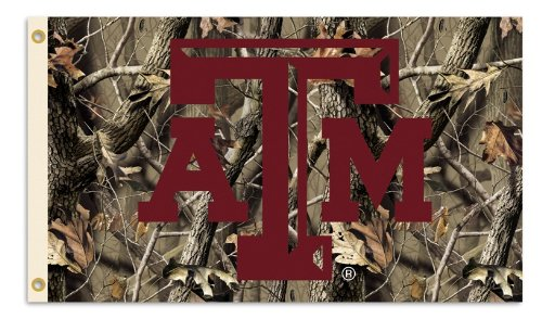 NCAA Texas A&M Aggies 3-by-5 Foot Flag with Grommets - Realtree Camo Background