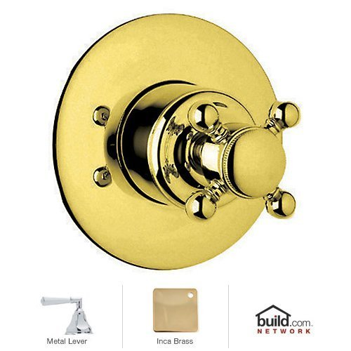 Rohl A2700LHIBTO Trim Package Kit for Country Bath Four Port Three Direction Diverter Trim Only with Hex Metal Lever and Sleeve, Inca Brass