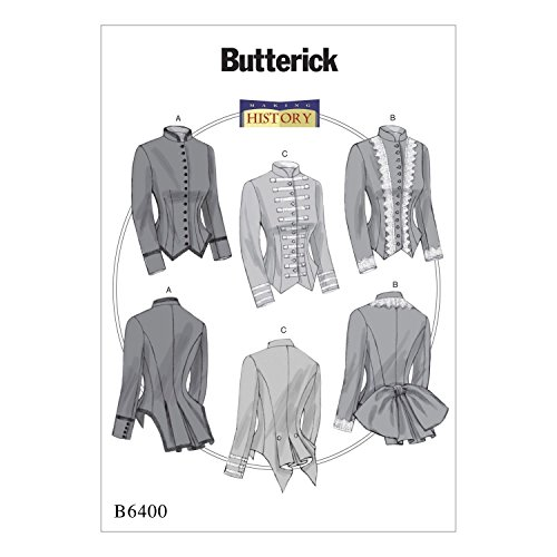 Butterick Patterns B6400 E5 Misses' Boned, Back-Pleat Jackets by Making History, Size 14-22 (Butterick Craft Pattern)
