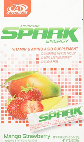 Advocare Spark Energy Drink 14 single serve pouches – Mango Strawberry