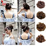 Leeons Hair Buns Scrunchy Scrunchie Bun Updo Hairpiece Hair Curly Ribbon Ponytail Extensions Diverse Colors Chignon Hair Accessories (#27h4)
