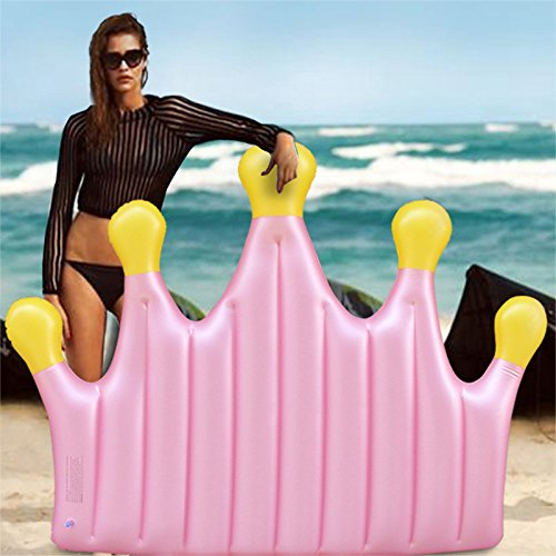 DMGF Queen Crown Inflatable Pool Floats Rapid Valves Swim Ring Toy Summer Beach Party Loungers Water Sport Raft Tube Floats For Adults Kids by DMGF (Image #1)