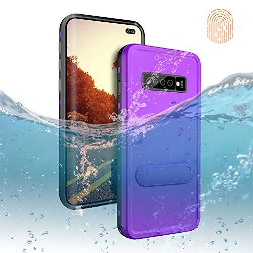 - Galaxy S10 Plus Waterproof Case, DOOGE Shockproof Dirtproof Snowproof Rain Proof Heavy Duty Full Protection Rugged IP68 Certified Waterproof Case with Kickstand Screen Protector for Galaxy S10 Plus