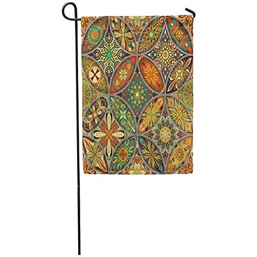 Patch Batik Print - Staromia Garden Flag 12x18 Inches Print On Two Side Polyester Abstract with Mandalas Vintage Colorful Patchwork African Batik Bohemian Carpet Home Yard Farm Fade Resistant Outdoor House Decor Flag