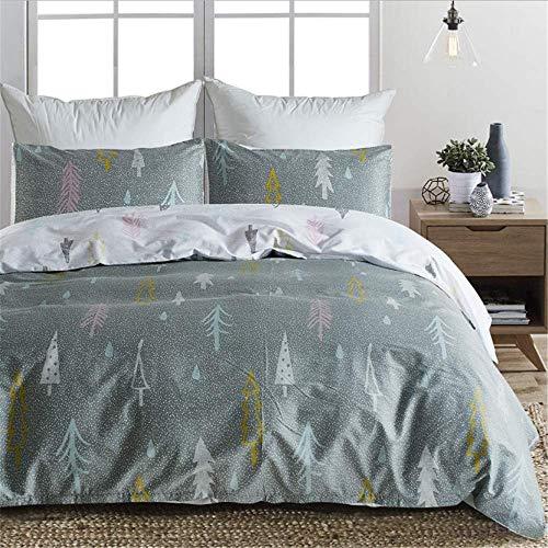SSHHJ Halloween Bedding Set Digital Printed Skull Duvet Cover Pillowcases Twin Full Queen King A 220x230cm ()