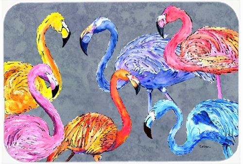 Caroline's Treasures Flamingo Six Senses Glass Cutting Board, Large, Multicolor