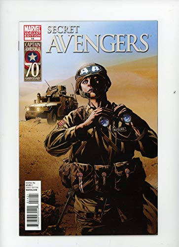 SECRET AVENGERS #14 | Marvel | August 2011 | Vol 1 | Mike Perkins I Am Captain America Variant Cover 1:20