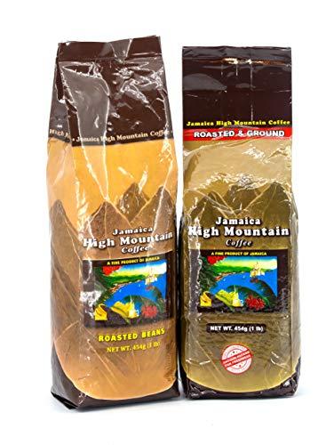 Jamaica High Mountain Coffee, Roasted, Beans or Ground, 1 lb (16 oz) Bag (Beans) ()