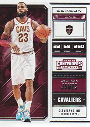 - 2018-19 Panini Contenders Draft Picks Basketball #41 LeBron James Cleveland Cavaliers
