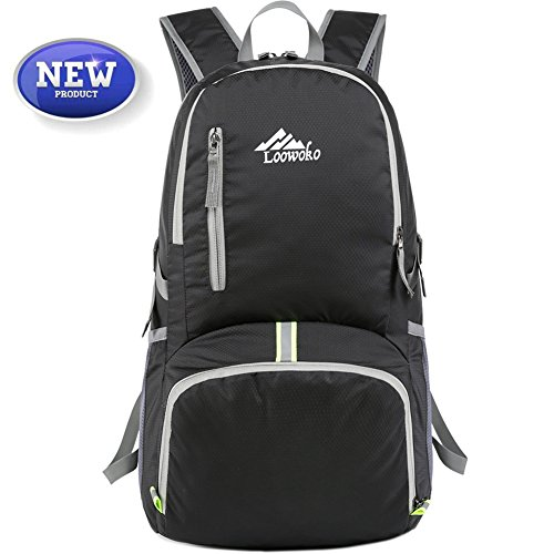 Loowoko Hiking Backpack 50L Travel Daypack Waterproof with Rain Cover for Climbing Camping Mountaineering