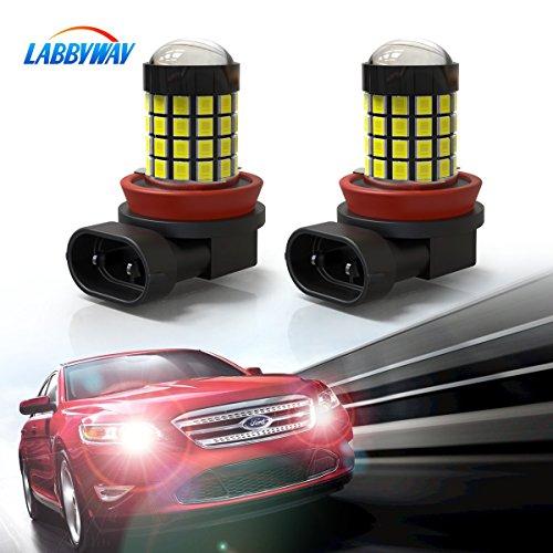 LABBYWAY 2 X Super Bright 1000 Lumens H11 H9 H8 Headlight Bulbs Conversion Kit, 6000K LED Bulb Used For Fog Lights,Xenon White