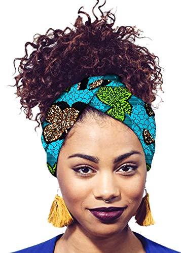 Ababalaya Women's Extra Long African Traditional Print Head Wrap Headband Tie 78×2 inch,471