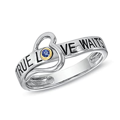 9808b67f2183d Amazon.com: Esty & Me True Love Waits Heart Ring in Sterling Silver ...