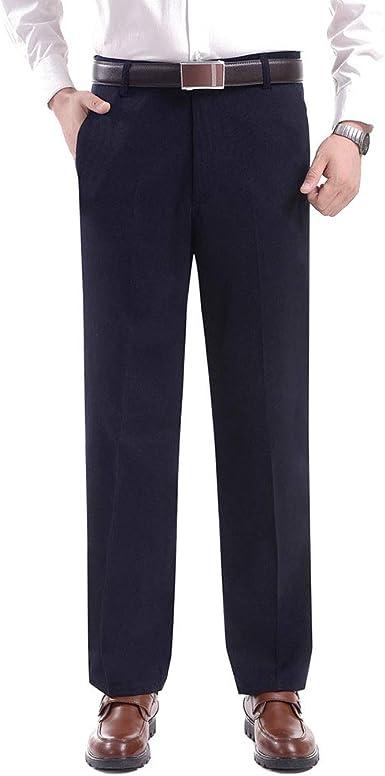 Zevonda Pantalones De Traje De Hombre Moda Pantalones Rectos Suaves Con Bolsillo Amazon Es Ropa Y Accesorios