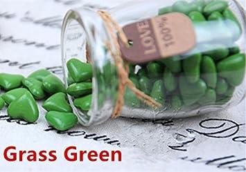 mdlg 90pcs hierba verde forma de corazón cristal embotellada para sellado con cera Sello Vintage invitaciones