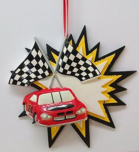 (Race Car Ornament (Red Car/Blue)