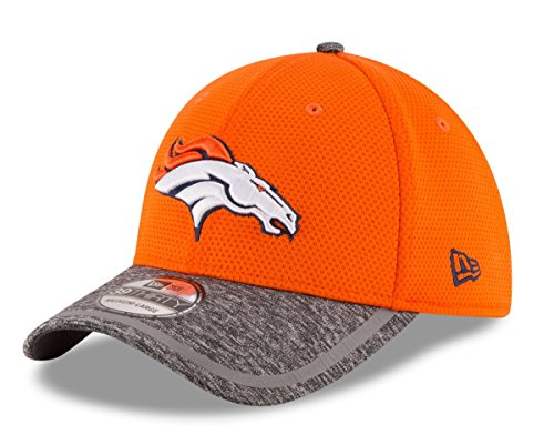 Denver Broncos New Era On-Field Training Camp 39THIRTY Flex Fit Hat / Cap Medium/Large (Training Hat Camp)