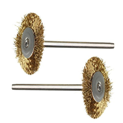Drill Warehouse 36Pcs Brass Steel Wire Brush Polishing Wheels Full kit for Dremel Rotary Tools by Drill Warehouse (Image #2)