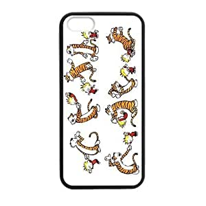 Calvin and Hobbes Cartoon Comic Strip Case Black Case cover for iPhone 6 4.7 protective Durable black case