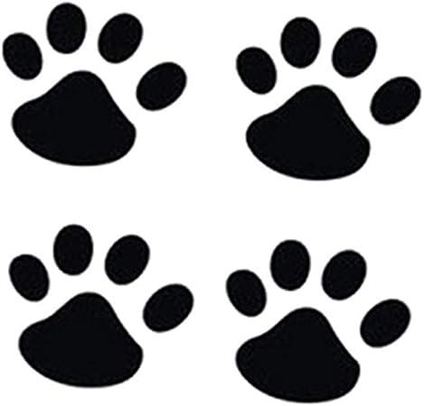 Ogquaton Qualité Premium 4 Pcs Personnalité Drôle Chien Pattes Empreintes De Pattes Creative Walkprints Empreintes Autocollants Noir