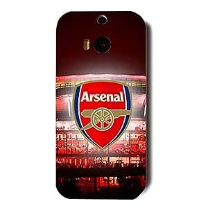 Arsenal FC Team Logo Customized Shockproof Slim Hard Plastic 3D Case LA6K011 For Htc One M8