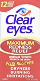 Clear Eyes lNcjWS Maximum Strength Redness Relief, 0.5 Fluid Ounce (4 Pack)