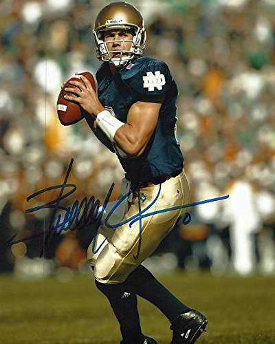 Brady Quinn Autographed Notre Dame Fighting Irish 8x10 Photograph Certified Authentic