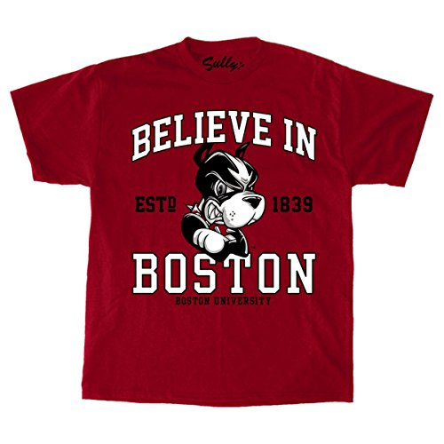 Sully's Brand Believe In Boston - Boston University - Red T-Shirt