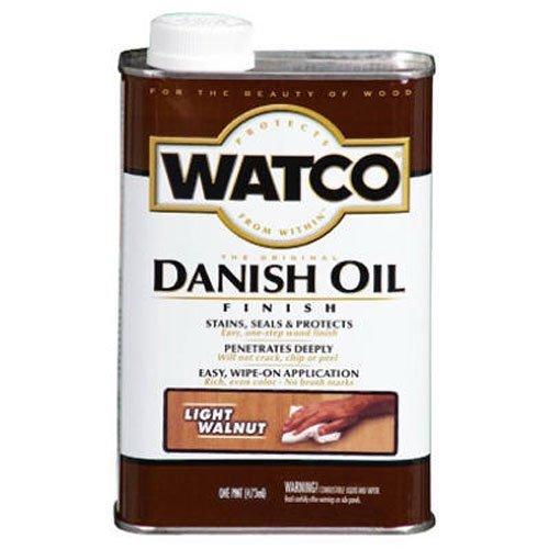 (RUST-OLEUM 65551 Watco Pint Light Walnut Danish Oil Finish by Rust-Oleum)