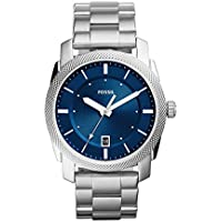 Fossil Men's Machine Quartz Stainless Steel Dress Watch, Color: Silver-Tone (Model: FS5340)