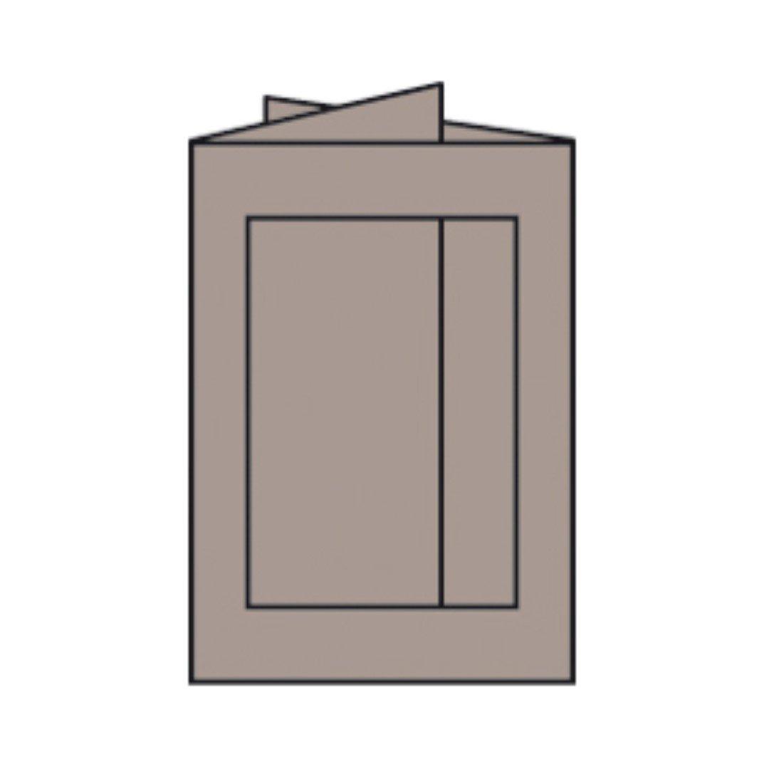 Rössler Papier - - Paperado-Karte Ft.B6 PP-eckig, Taupe - Liefermenge  25 Stück B07CX56GJ8 | Verpackungsvielfalt