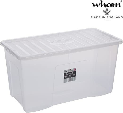 Box mit Deckel Aufbewahrungsbox Plastik Lagerbox Stapelbox Lebensmittelecht klar