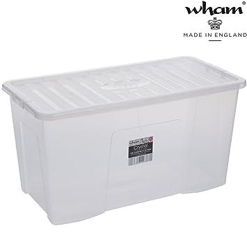 Schön Hochwertige XXL Box mit Deckel, 110l, 79,5x39,5cm  UN96