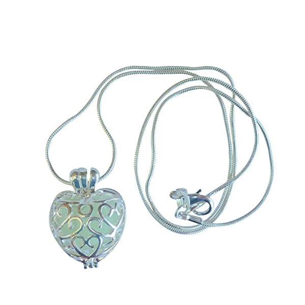 UMBRELLALABORATORY Wishing Heart Fairy Magical Fairy Glow in The Dark Necklace-Aqua-SIL 4