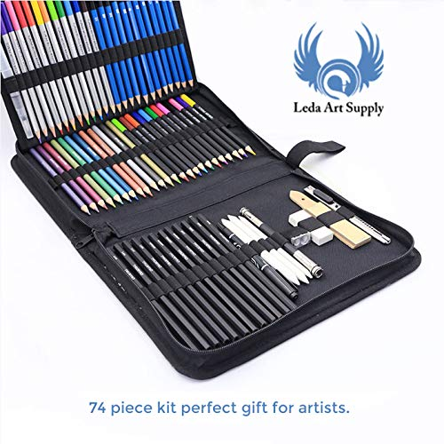 Amazon.com: LEDA Dream Art Kit para dibujo de lápices de ...