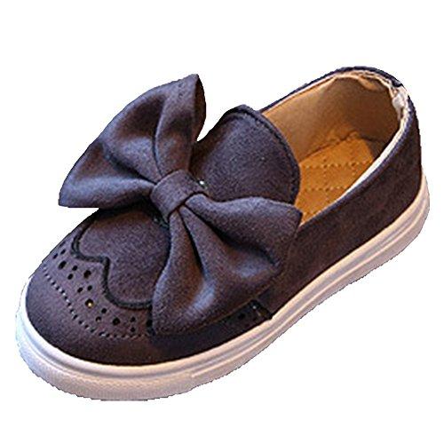 Ohmais Kinder Mädchen flach Freizeit Sandalen Sandaletten Kleinkinder Mädchen Halbschuhe Sandalette Ballerinas Grau