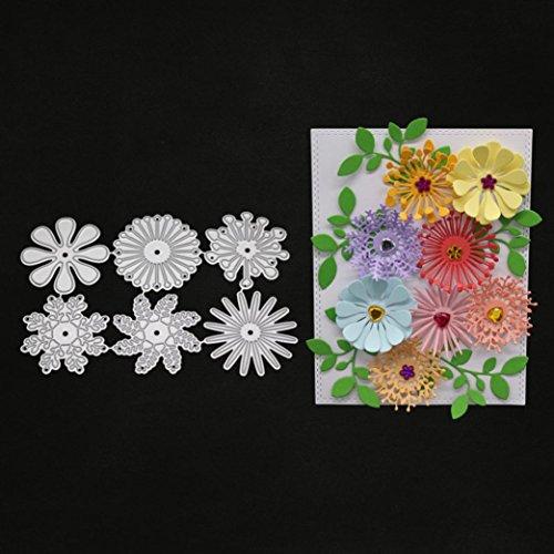 Lavany Dies for Card Making,Flowers Heart Borders DIY Metal Cutting Dies Stencil Scrapbooking Paper Die-Cuts Stencil Embossing Album (F)