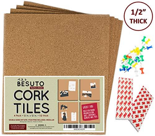 Premium Cork Board Tiles by BESUTO 12