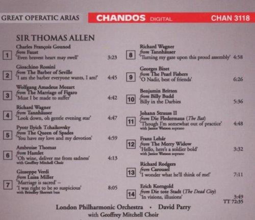 Sir Thomas Allen Sings Great Operatic Arias