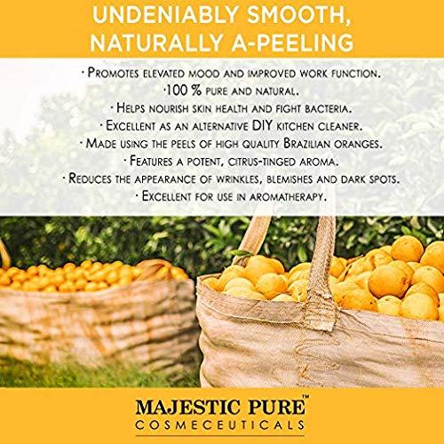 Majestic Pure Brazilian Orange Essential Oil, 100% Pure and Natural with  Therapeutic Grade, Premium Quality Brazilian Orange Oil, 4 fl  oz