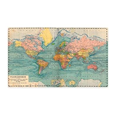 Personalized design genuine leather wallet purse old world map art personalized design genuine leather wallet purse old world map art pattern design gumiabroncs Gallery