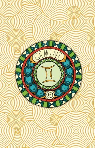 Gemini: (5.5 x 8.5 Small)(Dot Grid) Blank Journal Notebook Organizer Planner Sketchbook Gratitude Diary Pocket Size Zodiac Astrology Horoscope Air Sign Symbol Round Medallion PDF