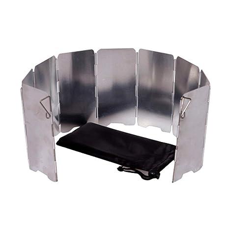 Ogquaton 1 UNIDS Mini Estufa de Camping Parabrisas Parabrisas Plegable Pantalla de Viento Accesorios de Camping para Picnic de Cocina Al Aire Libre BBQ Uso ...