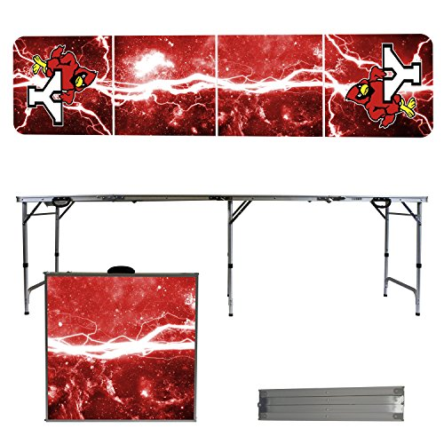 NCAA York College Cardinals Lightning Version Portable Folding Tailgate Table, 8' by Victory Tailgate
