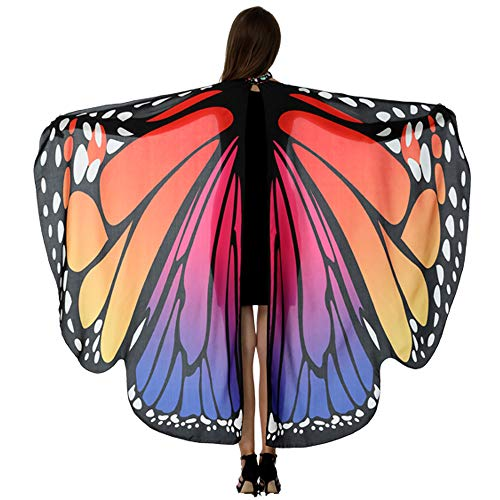 HITOP Butterfly Wings For Women, Butterfly Shawl Fairy Ladies Cape Nymph Pixie Costume Accessory]()
