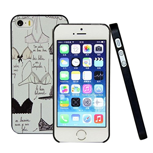 GBSELL Paint Various Pattern Phone Hard Back Skin Case Cover for Apple iPhone 5 5S 5G (D)