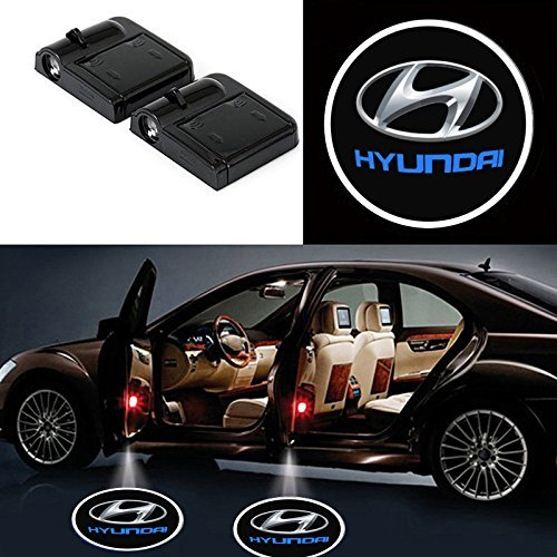 Bearfire 2 Pcs Wireless Car Door Led Welcome Laser Projector Logo Light Ghost Shadow Light Lamp Logos fit H