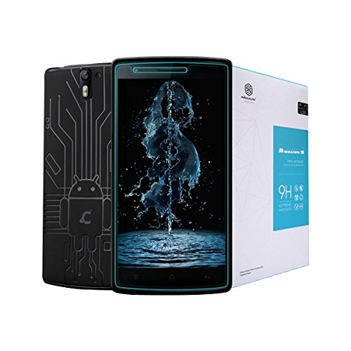OnePlus One Screen Protector, Cruzerlite Bundle Compatible for OnePlus One (Bugdroid Circuit Black with Nillkin 9H Anti-Burst Tempered Glass Protector)