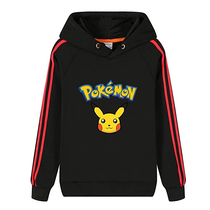 Unisex Pokemon Impresión de Pikachu Suéter Pullover Casual Moda Sudadera con Capucha para Hombres y Mujeres con Capucha Chaqueta Ocasional Caliente: ...