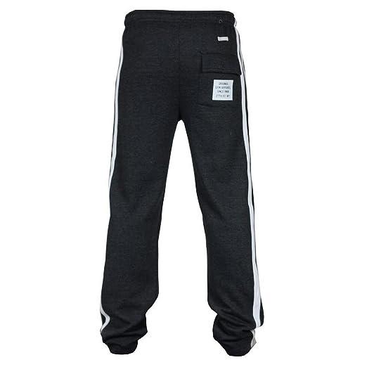 Hombre Pantalones de chándal - Juleya Pantalones deportivos Hiphop Stripe Raya Pantalones de gimnasio fútbol Pantalones de Ocio… 4keIIP9yqa